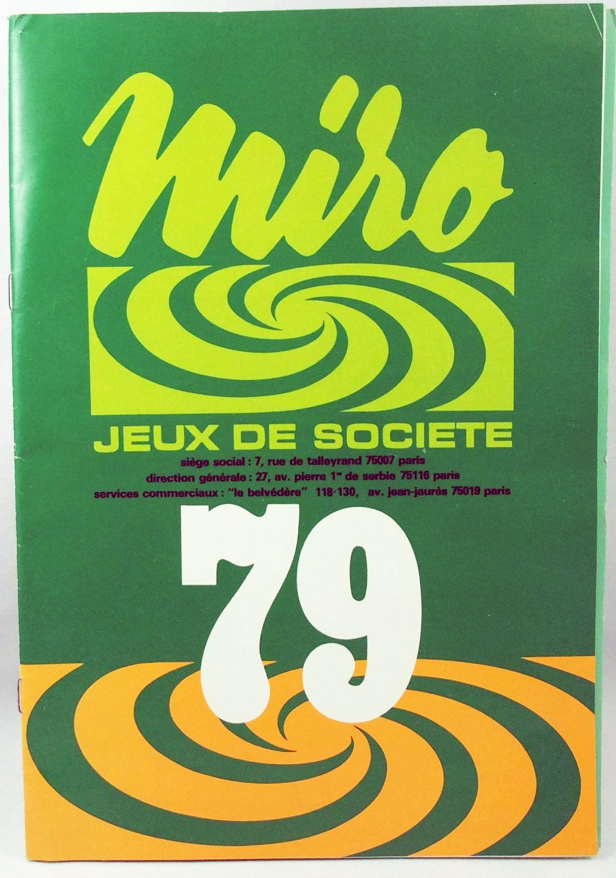 Catalogue professionnel Miro France 1979