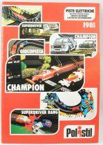 Catalogue professionnel Polistil Circuits électriques 1981