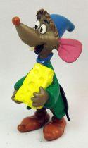 Cendrillon - Figurine PVC Comic Spain - Luke la souris avec fromage