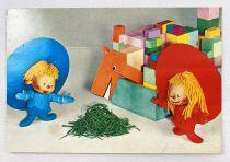 Chapi Chapo - Carparu Postal Card (1978) - Chapi Chapo with horse