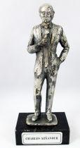 "Charles Aznavour - 6\"" die-cast métal statue - Daviland France 1978"