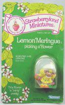 Charlotte aux fraises - Miniatures - Meringue Citron cueille une fleur
