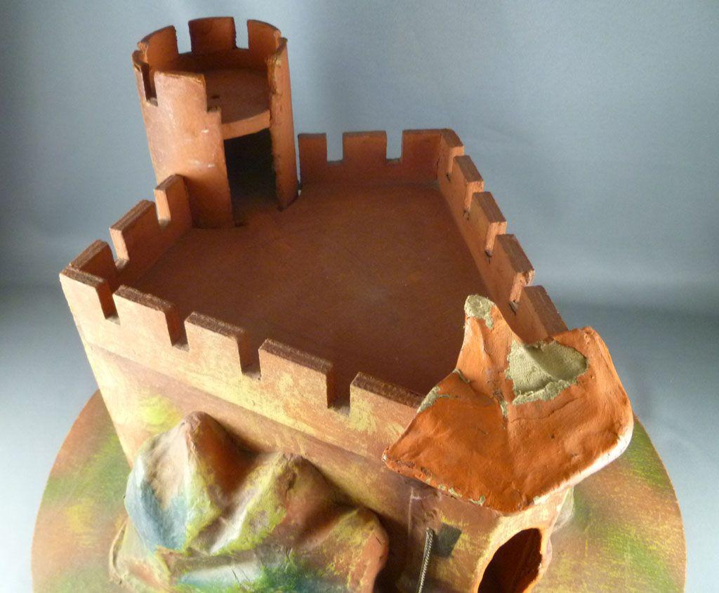 Château Fort Bois Moyen Age Papier Maché Composition compatible Starlux Quiralu