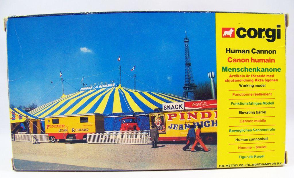 Cirque Jean Richard (Pinder) - Corgi 1979 - Canon Humain (Ref.1163) neuf en boite