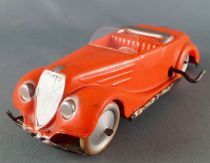 Citroën Traction Convertible ? Celluloid Wind Up Mechanical Car 13 cm