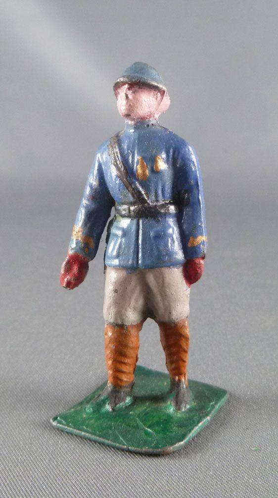 C.L. Charles Lanoy - Figurine Plomb Creux 50 mm - Officier Casque Adrian