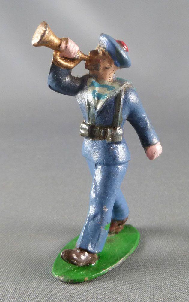 C.L. Charles Lanoy - Figurine Plomb Creux 56 mm - Marin Tenue Bleue Clairon