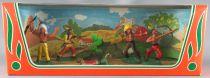 Clairet - Far West - Indiens 3ème série - Boite Neuve 5 Figurines + Cactus (réf 303)