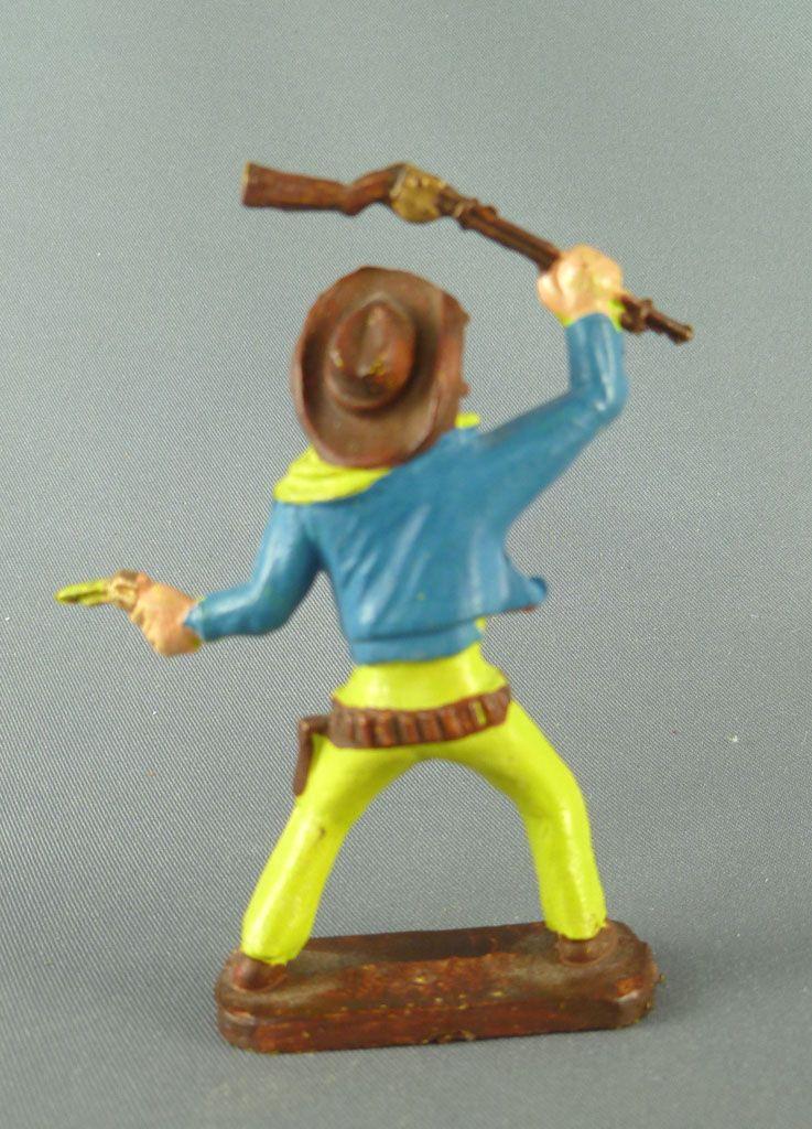 Clairet - Far West - Cow-Boys 3ème série - Piéton fusil en l\'air et révolver 2