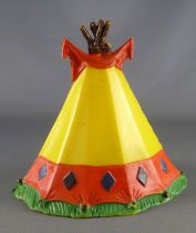 Clairet - wild west - indian - accessories - tent 2nd Mold (yellow & red)
