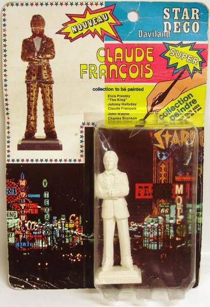 Claude François - Daviland Star Deco figure (mint on card)