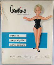 Clodrey Polyflex - Poupée Mannequin 25 cm - Caroline & Garde Robe en Boite