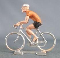 Cofalu (Années 60) - Cycliste plastique - Rouleur orange & noir