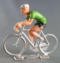 Cofalu (Années 60) - Cycliste plastique - Rouleur vert