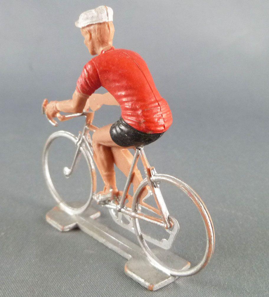 Cofalu (Années 70) - Cycliste plastique - Maillot Rouge