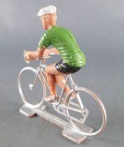 Cofalu (Années 70) - Cycliste plastique - Maillot Vert Olive 1