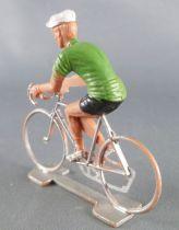 Cofalu (Années 70) - Cycliste plastique - Maillot Vert Olive 2