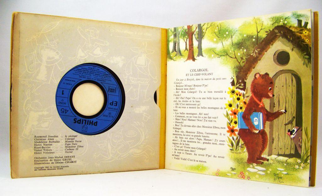 Colargol - Livre-disque 45T - Colargol et le Cerf-Volant - Disques Philips (1963)