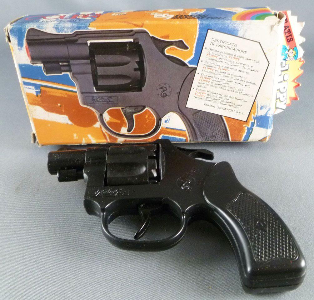 """Colibri (\""""Flippy\"""" firecracker pistol) - Edison Giocattoli Ref # 125- Mint in Box"""