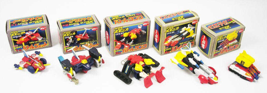 Combattler V - Capsule Popynica - Set des 5 vehicules Battle Machines