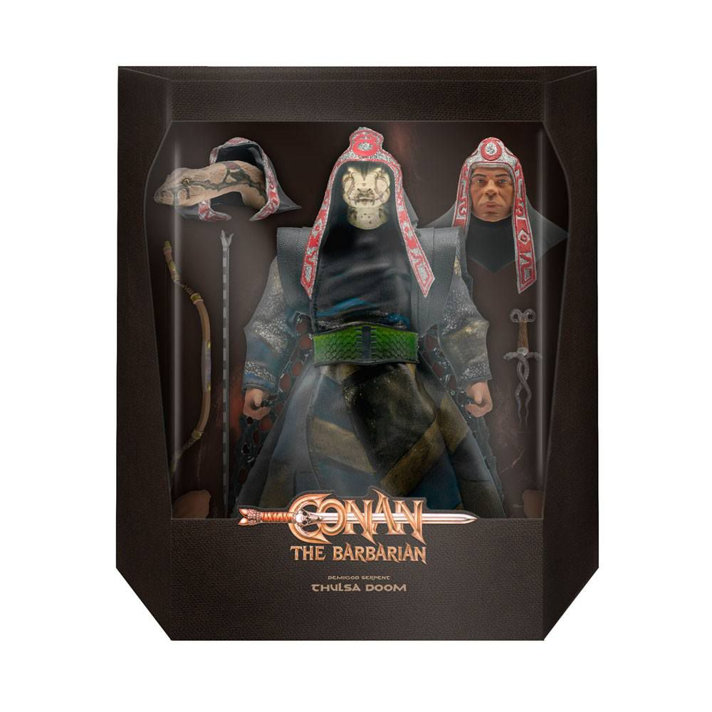 Conan le Barbare (1982 Movie) - Super7 - Demigod Serpent Thulsa Doom - Figurine Ultimate deluxe 17cm