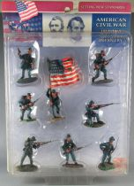 Conte Collectibles - 8 Painted Plastic 54mm Figures - A.C.W. Union Infantry Mint on Card