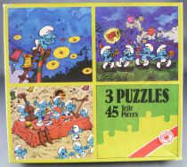 (copie) The Smurfs - 3  Puzzles 45 pieces - ASS (Ref # 2228/2)