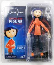 Coraline - Coraline en chandail rayé - Figurine articulée 17cm - NECA
