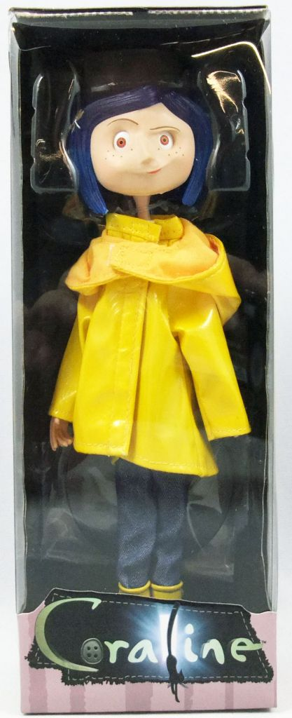 Coraline Coraline Raincoat Boots Bendy Doll Neca
