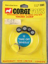 Corgi Toys 1361 - 4 Interchangeable Wheels Golden Jacks for Mini Marcos Gt 850 Carded