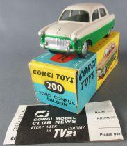 Corgi Toys 170 - 200 - Ford Consul Saloon 2 Tone Near Mint in Box 1:43