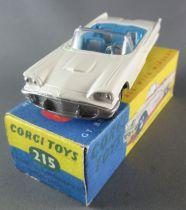 Corgi Toys 215 - Ford Thunderbird Convertible Blanche Repeinte Boite Repro