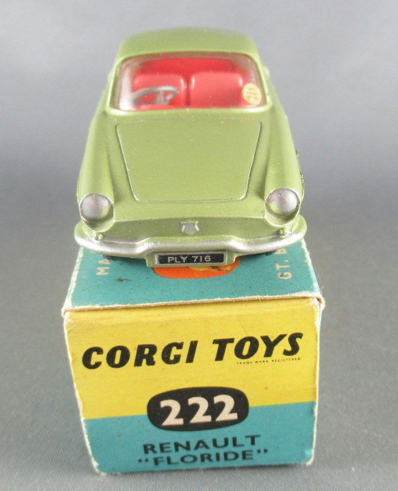 Corgi Toys 222 - Renault Floride Vert Métallisé Proche Neuf Boite 1/43