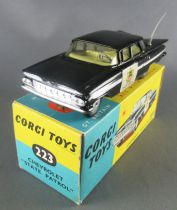 Corgi Toys 223 - Chevrolet Impala Police State Patrol Proche Neuf Boite 1/43