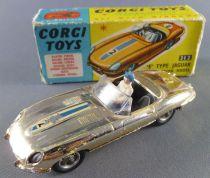 Corgi Toys 312 Jaguar Type E Modèle Compétition Chromé Or Boite