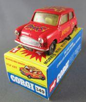 Corgi Toys 349 - Morris Mini Minor Pop Art Mostest Repeinte Boite Repro 1/43