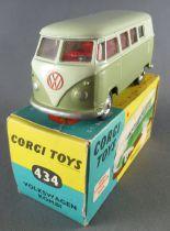 Corgi Toys 434 - Volkswagen Kombi Minibus Proche Neuf Boite 1/43