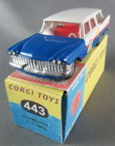 Corgi Toys 443 - Plymouth US Mail Repeinte Boite Repro 1/43