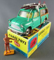Corgi Toys 485 - Austin Mini Countryman Surf Complète Repeinte Boite Repro 1/43