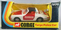 Corgi Toys 509 - Porsche Targa Police Car Near Mint in Box 1:43