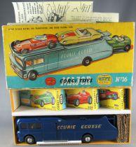 Corgi Toys Gift Set N°16 - Ecurie Ecosse Racing Car Transporteur & 3 Voitures Proche Neuf Boite 1/43
