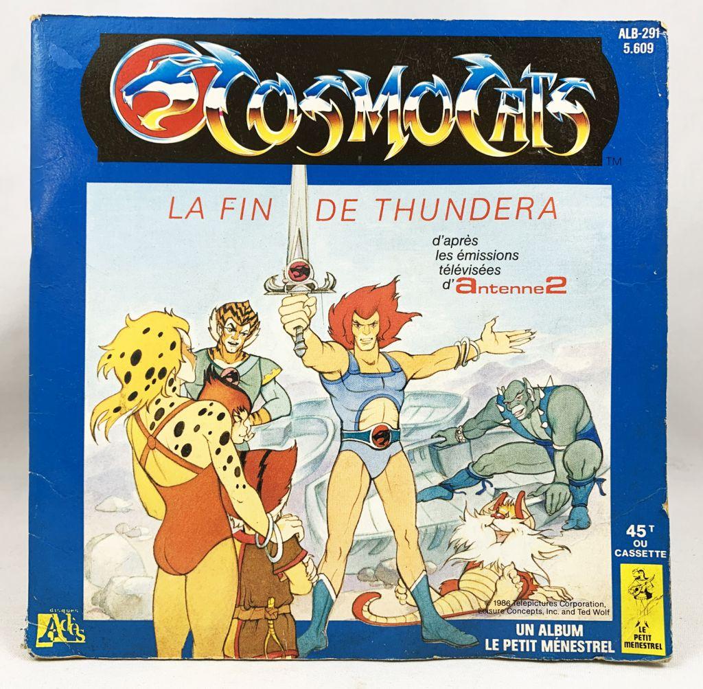 Cosmocats - Livre-Disque 45T - La Fin de Thundera - Disque Ades / Le Petit Menestrel 1986