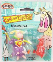 Cow and Chicken - Figurines miniatures 5cm - Super-Génisse et Le Rouge - Kids Logistix Retail 1999