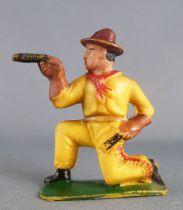 Cyrnos - Far-West - Cow-Boys Piéton tireur revolvers genoux jaune