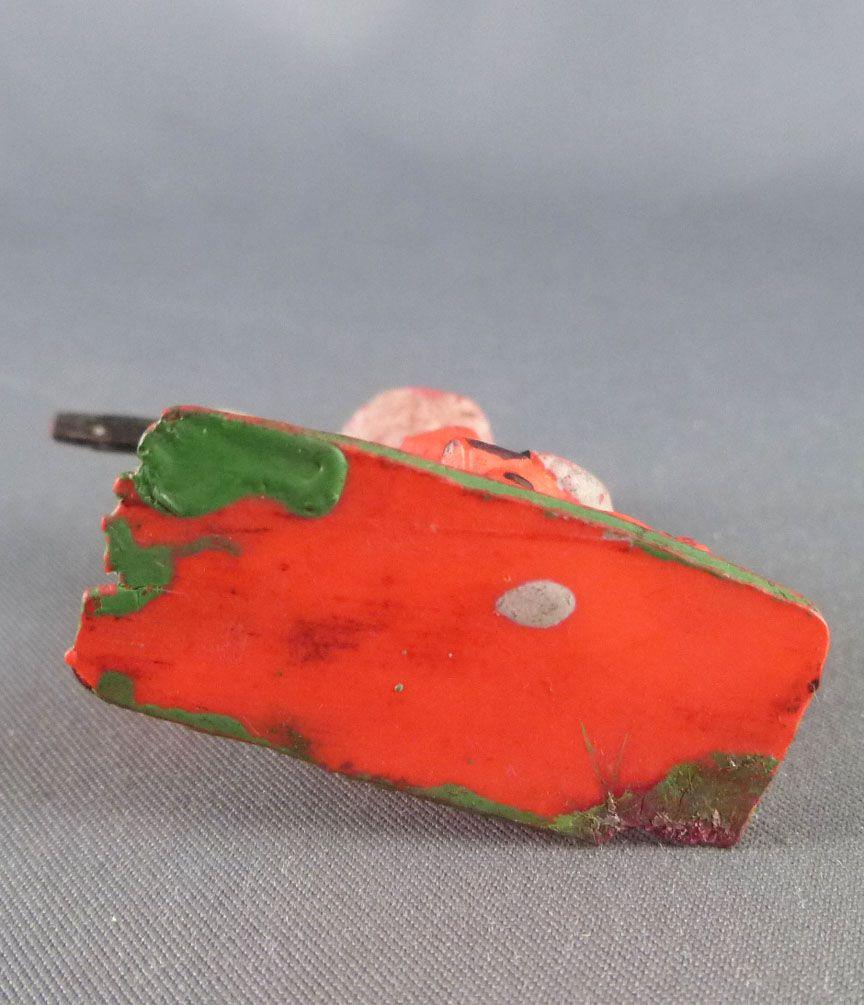 Cyrnos - Far-West - Cow-Boys Piéton tireur revolvers genoux orange