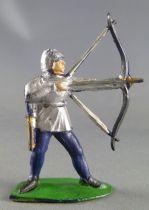 Cyrnos - Moyen âge - Piéton Archer debout armure argent carquois doré