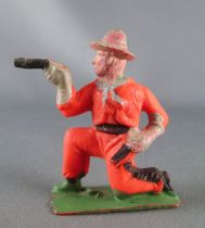 Cyrnos - Wild-West - Cow-Boys Footed firing guns kneeling (orange)