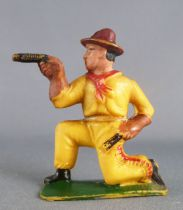 Cyrnos - Wild-West - Cow-Boys Footed firing guns kneeling (yellow)