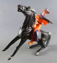 Cyrnos - Wild-West - Cow-Boys Mounted firing rifle black horse
