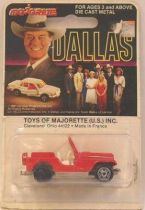 Dallas - Jeep - Mint on card Majorette 1:64